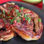 The Perfect Sultry Valentine's Day Meal: Seared Lamb Chops with Pomegranate Reduction