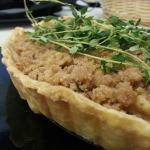 Pear Streusel Tart with Fresh Thyme