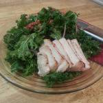 Kale Salad with Sun Dried Tomato and Dried Cranberries
