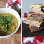 Two Ways for Ham: Split Pea Soup ++ Ham and Cheese Sandwich with Apple Pie Pickles