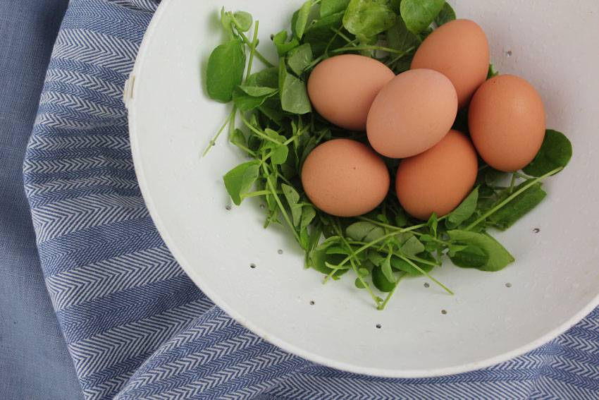 #2Ways2Percent - Baked Eggs with Watercress | Runaway Apricot
