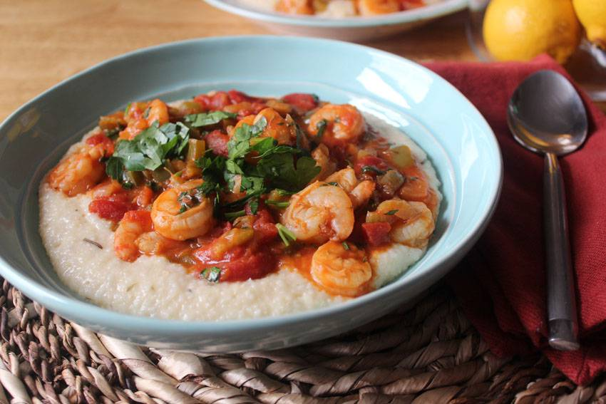 Shrimp Creole and Cheddar Grits   Runaway Apricot