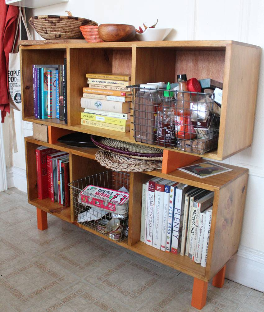Cookbook Shelf DIY | Runaway Apricot