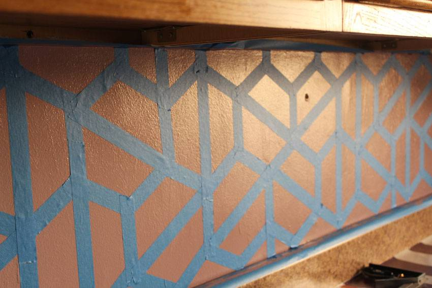 Kitchen Tiles Painted Over how to paint a geometric tile kitchen backsplash