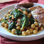 Spicy Chickpeas with Tomatoes and Spinach