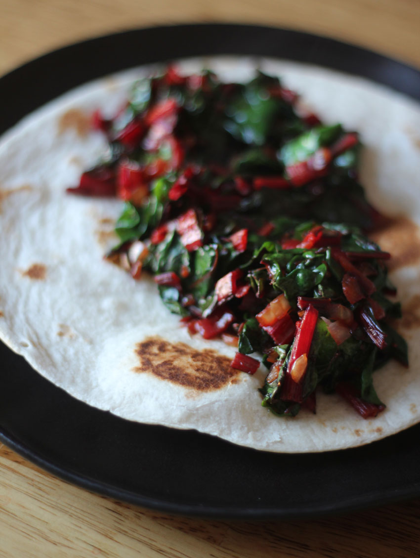 Chard and Feta Breakfast Tacos | Runaway Apricot