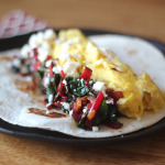 Chard and Feta Breakfast Tacos | Runway Apricot
