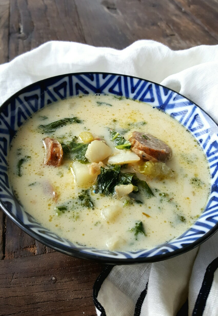 Cod and Andouille Stew with Kale and Potatoes