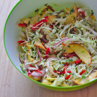 Peach and Cabbage Slaw